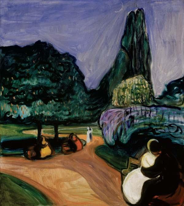 Edvard Munch, Zomernacht in Studenterlunden, 1899