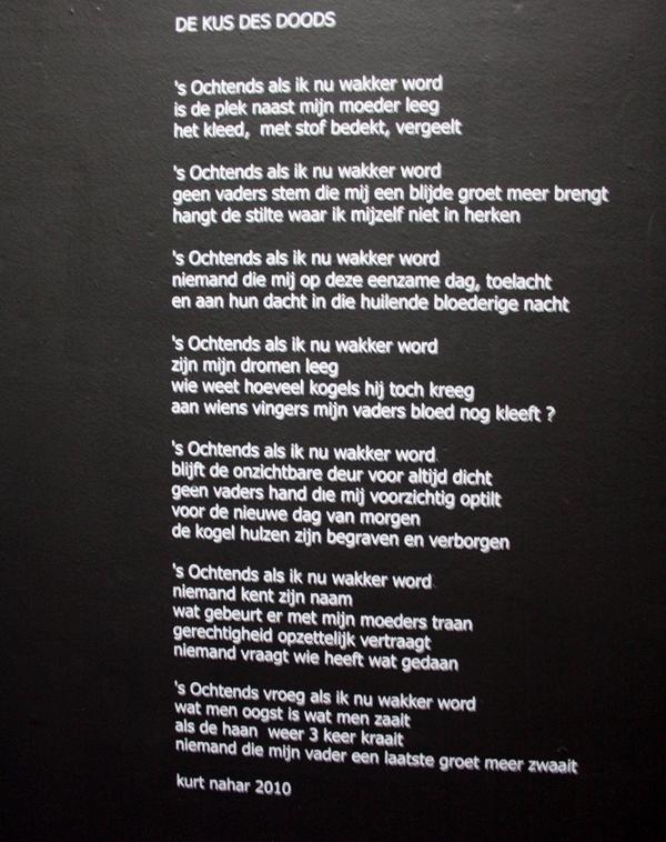 Kurt Nahar - De Nacht Acht - Mixed Media installatie (gedicht)