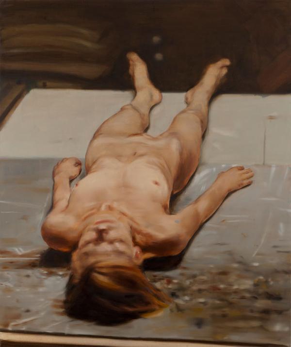 Nude - 240x200cm Olieverf op canvas