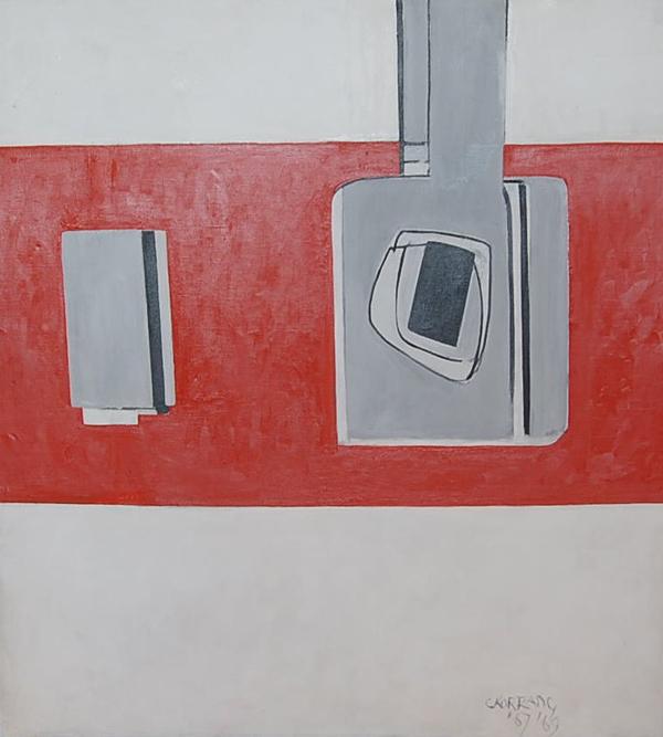 Cees Kortlang, Home is a wounded heart, 1967, 130 x 120 cm, olie op doek