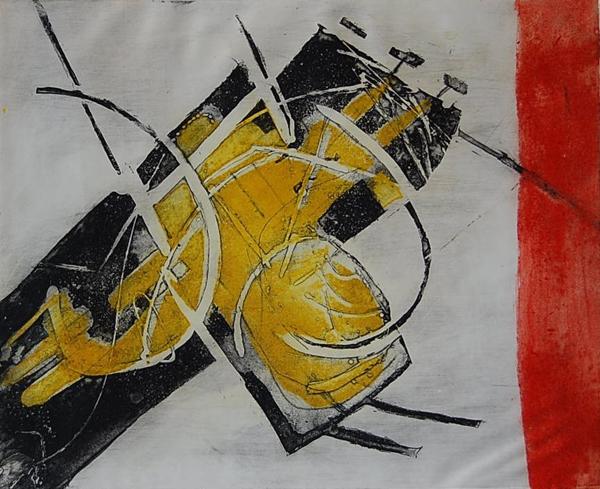 Cees Kortlang, Noodlot, 1966, 32,5 x 40 cm, ets
