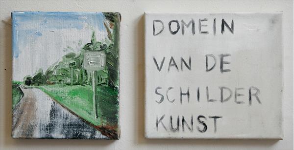 Domein van de schilderkunst - 25x21cm + 25x27cm Olieverf op canvas