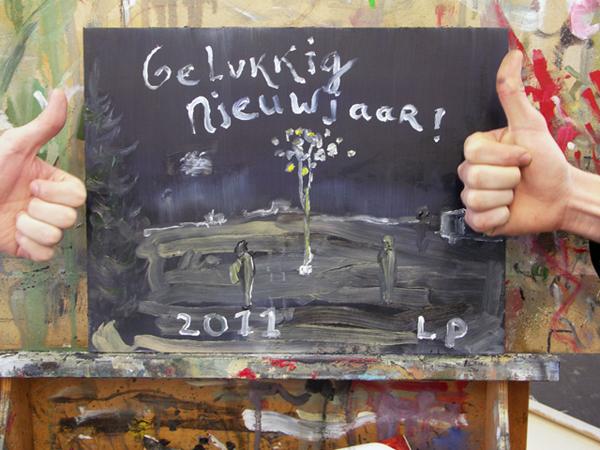 Gelukkig nieuwjaar van Lost Painters