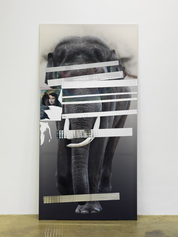 Mona Isa III (Elefant) - 260x131cm Mixed Media