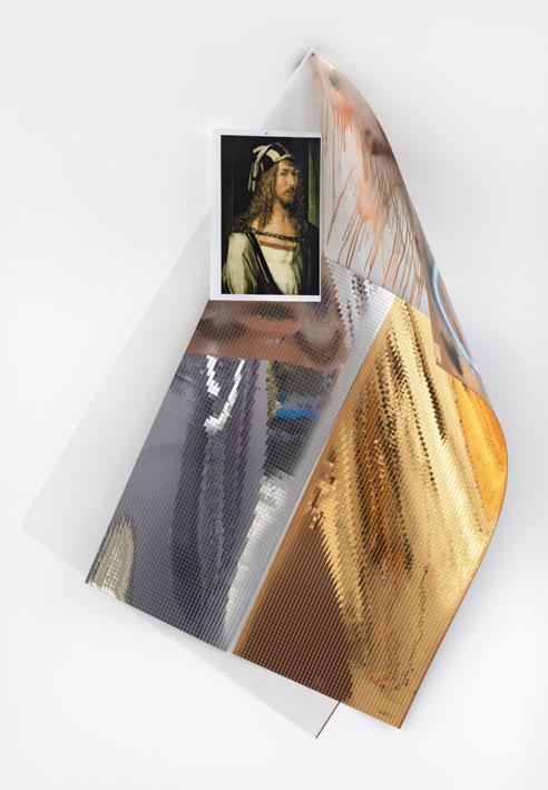 Mona Isa IV (Dürer Selbsportrait) - 172x114x56cm Mixed Media