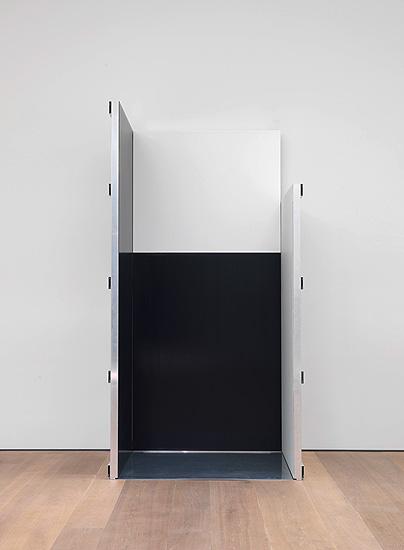Ort - Schwarz Weiss Schwarz Weiss - 302x156x125cm Acryl op aluminium