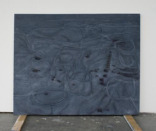 Sporen - 95x120cm Olieverf op canvas