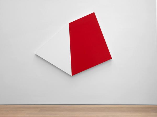 Weiss Rot - 215x260cm Acryl op aluminium