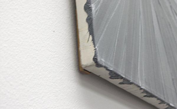 Grau, Strahlen - 50x43cm Olieverf op doek (detail)