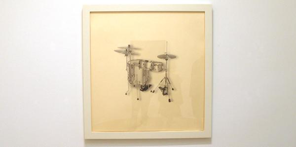 No title (cocktail drumkit) - Inkt en potlood op papier