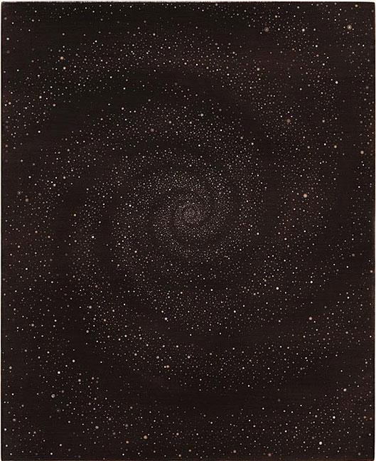 Untitled (Start Swirl #1) - 27x22inch Acrylverf op doek