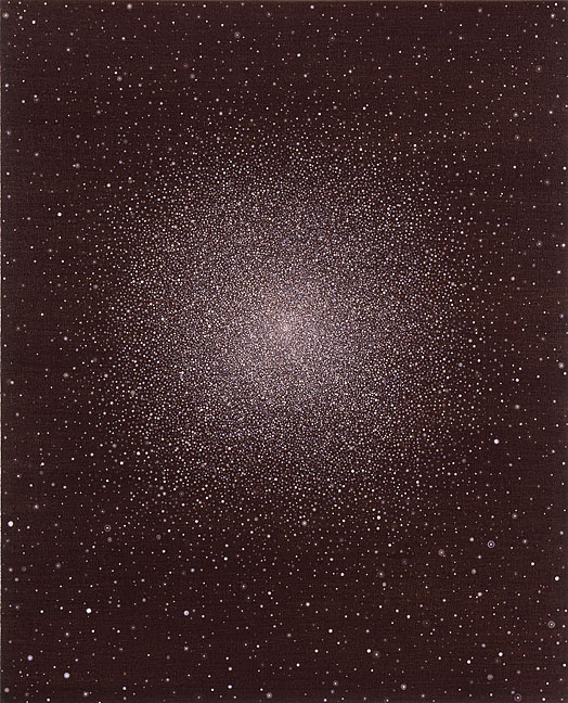 Untitled (globular cluster #1) - 36x30inch Acrylverf op doek