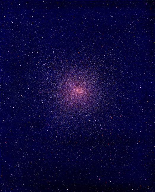 Untitled (globular cluster #4) - 28x22inch Acrylverf op doek