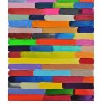 Work No 1171 - 30x25cm Acrylverf, enamel, inkt, olieverf en waterverf op canvas