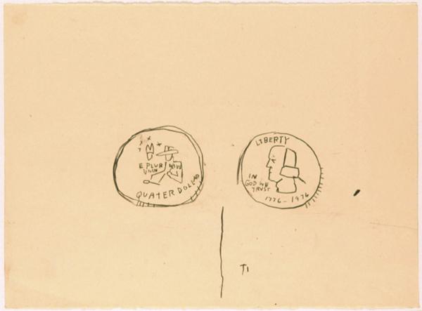 25 Cents - 57x80cm Houtskool op papier
