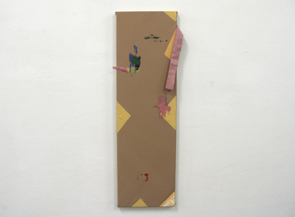 Bas van den Hurk - Untitled - 90x20cm Mixed media op doek