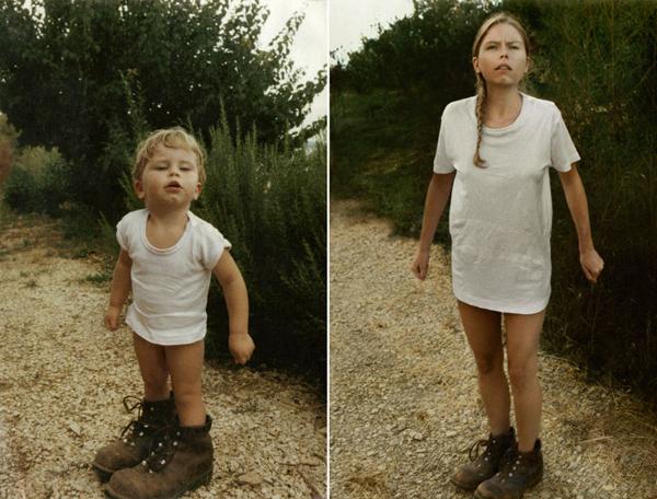 Cecile in 1987 en 2010