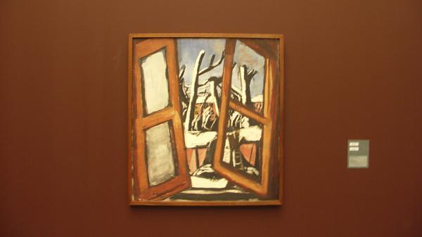 Max Beckmann - Winterbild (winterschildering) - Olieverf op doek