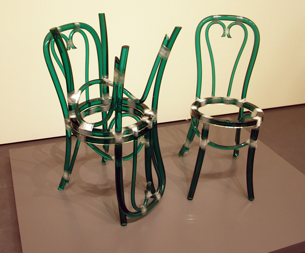 Rita McBride - Three Green Glass Chairs