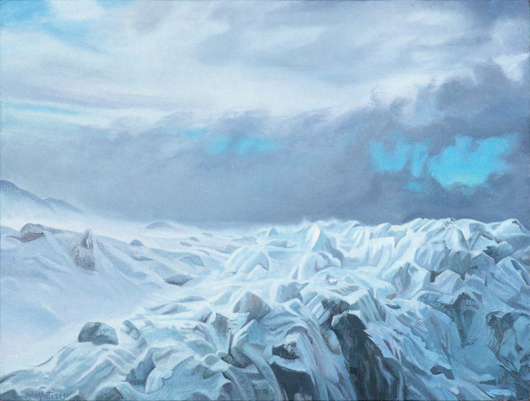 Seltsame Neigung - 43x57cm Olieverf op canvas