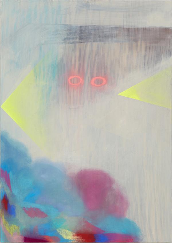 Swimmer - 170x121cm Acrylverf, pastel op pastelondergrond op canvas
