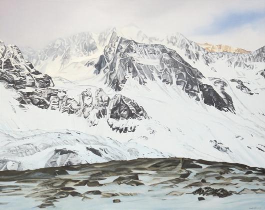 Verdunklungsgefahr - 134x169cm Olieverf op canvas
