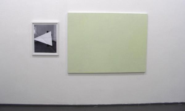 Martijn Hendriks - Untitled - 64x53cm Print & Bas van den Hurk - Untitled - 200x120cm Olieverf op canvas
