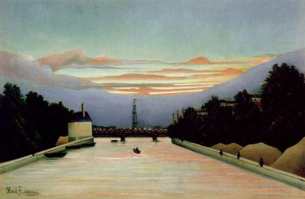 La tour Eiffel peinte par Henri Rousseau - Olieverf op canvas