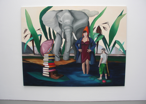 The Elephant in my Heart - 200x260cm Olieverf op canvas