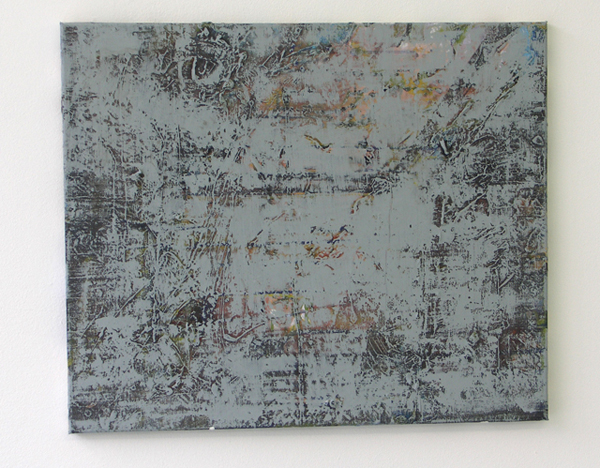 The Grey 3 - 50x60cm Mixed Media op canvas