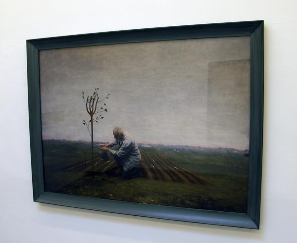 Untitled - 120x170cm Olieverf op zilverprint