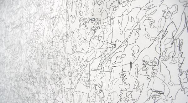 Untitled (Breugel) - 200x280cm Potlood en acrylverf op papier (detail)