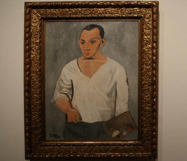 Zelfportret met palet