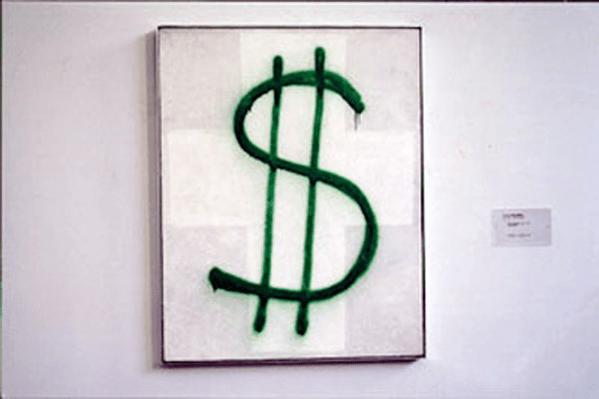 Alexander Brener's reactie op Malevich