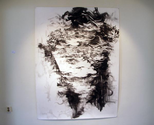 Anouk Griffioen - Zonder Titel - 220x150cm Houtskool en krijt op papier