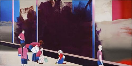 Thomas Eggerer - Fridays Child - 117x235cm Acrylverf op canvas