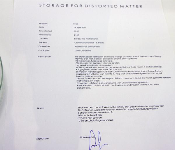 Loek Grootjans - Storage for Dirtorted Matter (detail)