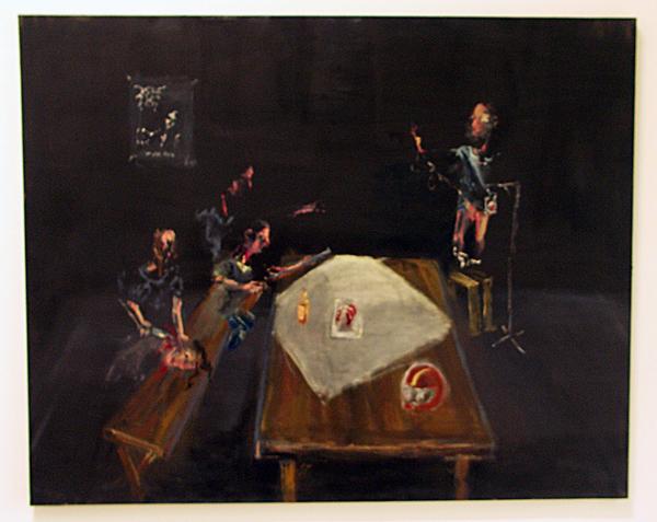 Aaron van Erp - De Mentor - Olieverf op linnen (Darkthrone - I En Hail Med Flesk Og Mjod)