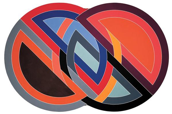 Frank Stella - Firuzabad - 305x458cm Acrylverf op shaped canvas