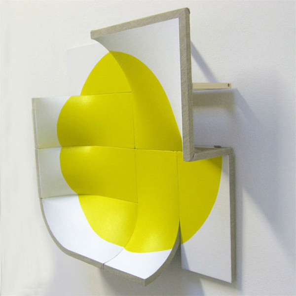 Jan Maarten Voskuil - There is no point in Yellow - Shaped canvas