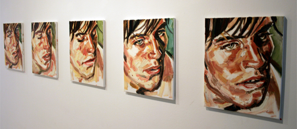 Esiri Erheriene-Essi - An Inadequate Presentation of Something Happening (1-5) - 40x50cm Olieverf op canvas