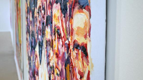 Esiri Erheriene-Essi - Restless - 155x200cm Olieverf op canvas (detail)