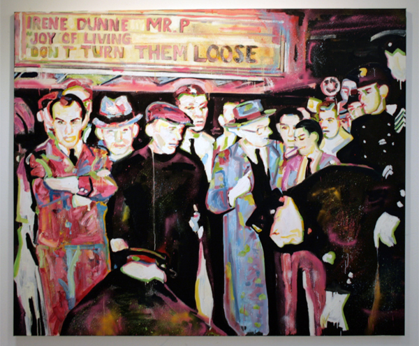 Esiri Erheriene-Essi - The Incident - 200x240cm Olieverf op canvas
