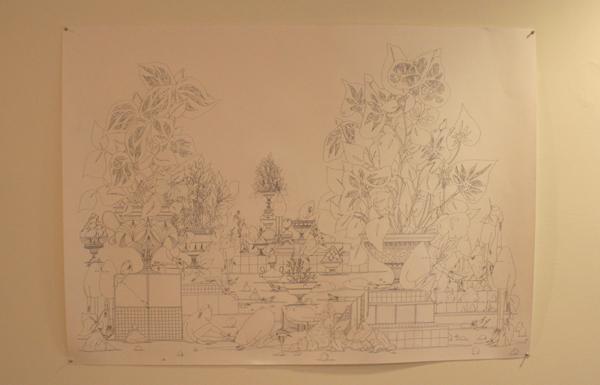 Merijn Hos - Zonder Titel - Potlood op papier