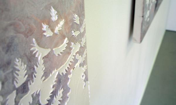 Jocye van Dongen - Zonder Titel - 113x170cm Olieverf en borduursel op canvas (detail)