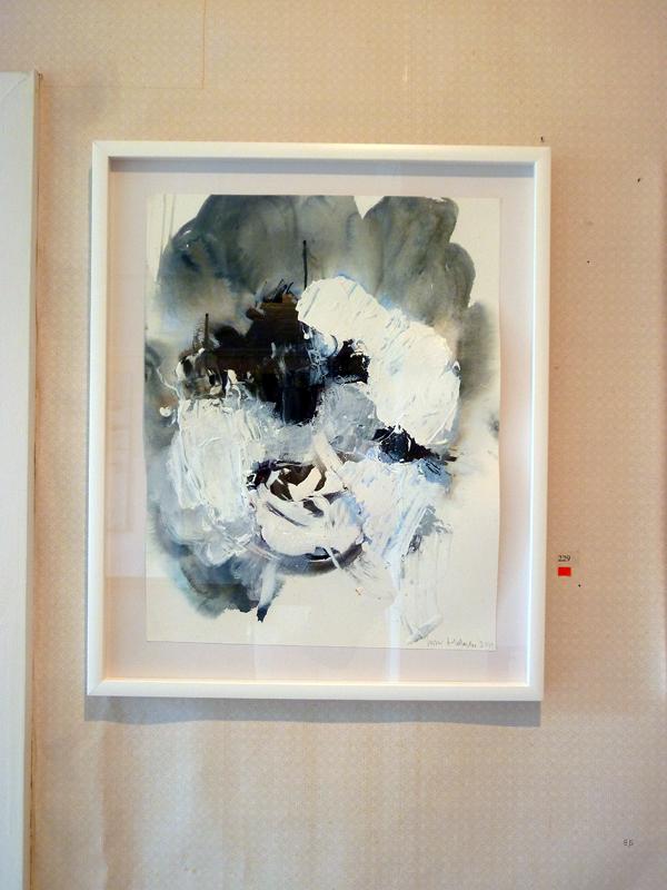 Jussi Halonen - Pond - aquarel en acrylverf op canvas