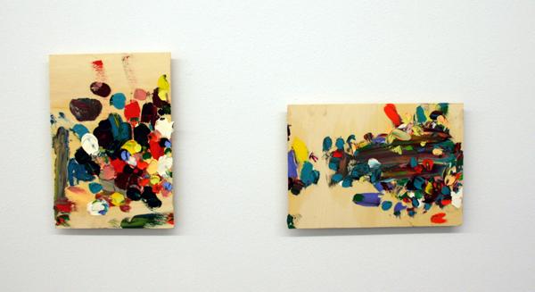 Norbert Prangenberg - Die Liebe Farbe (My Dear Colour) I & II - 30x21cm & 21x30cm Olieverf op hout