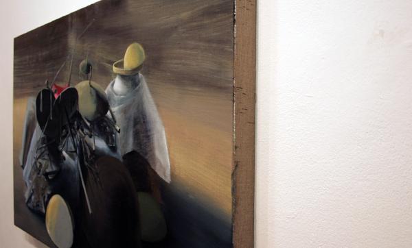 Olphaert den Otter - Holy Shit (Legba Veriations #2) - 40x66cm Eitempera op canvas op paneel (detail)