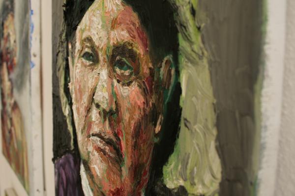 Ron Amir - Untitled - 30x40cm Olieverf op linnen (detail)