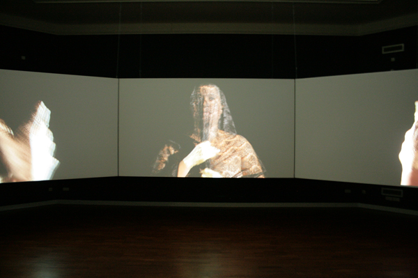 Berni Searle - Interlaced - Videodrieluik